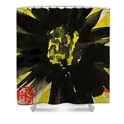 Shower Curtain featuring the painting Asian Sunflower by Joan Reese