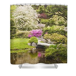 Asticou Azelea Garden - Northeast Harbor - Mount Desert Island - Maine Shower Curtain by Keith Webber Jr