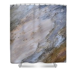 Shower Curtain featuring the photograph Atilt by Nadalyn Larsen