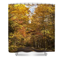 Shower Curtain featuring the photograph Autumn Drive by Andrew Soundarajan