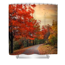 Shower Curtain featuring the photograph Autumn Maples by Jessica Jenney