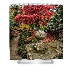 Autumn Path Shower Curtain by Adrian Evans