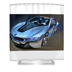 B M W  I8  Concept  2014 Shower Curtain