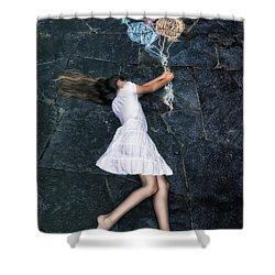 Balloons Shower Curtain by Joana Kruse