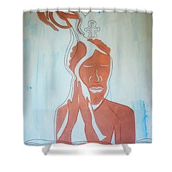 Baptism Of The Lord Jesus Shower Curtain by Gloria Ssali