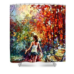 Barefooted Stroll Shower Curtain by Leonid Afremov