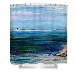 Barrier Islands Shower Curtain by Regina Valluzzi