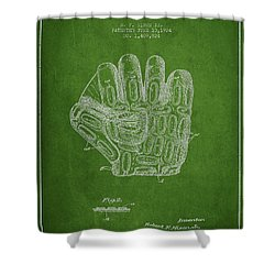 Baseball Glove Patent Drawing From 1924 Shower Curtain by Aged Pixel