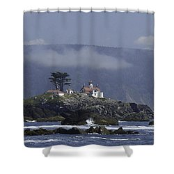 Shower Curtain featuring the photograph Battery Point Lighthouse by Betty Depee
