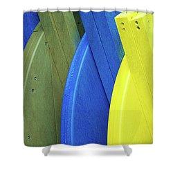 Beach Chair Palette  Shower Curtain by Allen Beatty