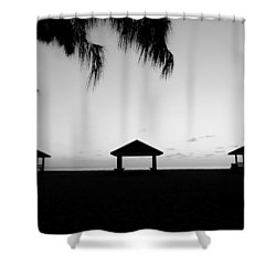 Shower Curtain featuring the photograph Beach Huts by Amar Sheow