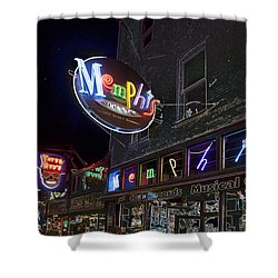 Beale Street Shower Curtain by Liz Leyden