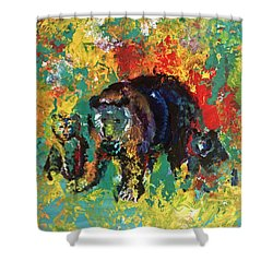 Bear Family Shower Curtain by Peter Bonk