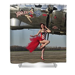 Beautiful 1940s Style Pin-up Girl Shower Curtain by Christian Kieffer