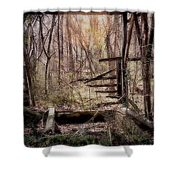 Shower Curtain featuring the photograph Been There by Bonnie Willis