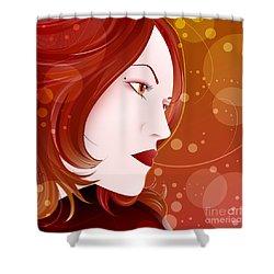 Bella Donna II Shower Curtain by Sandra Hoefer