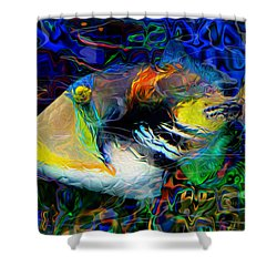 Below The Surface 4 Shower Curtain by Jack Zulli