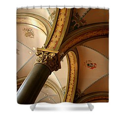 Shower Curtain featuring the photograph Bergen Interior by PJ Boylan