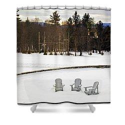 Berkshires Winter 3 - Massachusetts Shower Curtain by Madeline Ellis