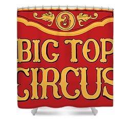 Big Top Circus Shower Curtain by Kristin Elmquist