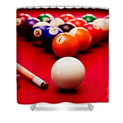 Billards Pool Game Shower Curtain