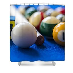 Billiard Balls Shower Curtain