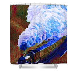 Billowing Shower Curtain