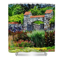 Biltmore Gardens Shower Curtain by Savannah Gibbs