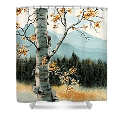 Paper Birch Shower Curtain