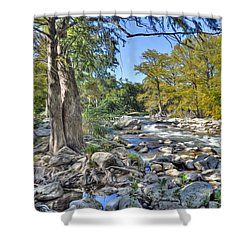 Guadalupe River Shower Curtain by Savannah Gibbs