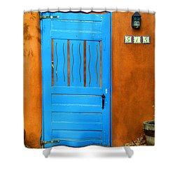 Blue Door In Santa Fe Shower Curtain