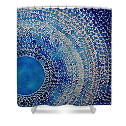 Blue Kachina Original Painting Shower Curtain