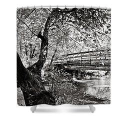 Bridge At Ellison Park Shower Curtain by Sara Frank