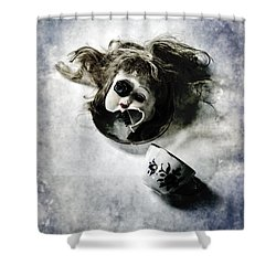 Broken Head Shower Curtain by Joana Kruse