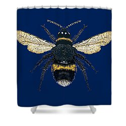Bumblebee Bedazzled Shower Curtain
