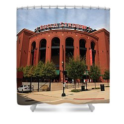 Busch Stadium - St. Louis Cardinals Shower Curtain