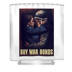 Buy War Bonds Shower Curtain by War Is Hell Store