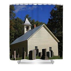 Cades Cove Primitive Baptist Church Shower Curtain by Dan Sproul