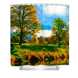 Canal 2 Shower Curtain