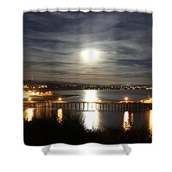 Capitola Moonscape Shower Curtain