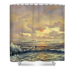 Cappuccino Bay Shower Curtain