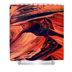 Shower Curtain featuring the painting Catalyst by Jacqueline McReynolds