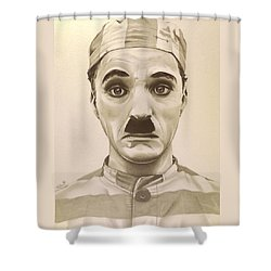 Vintage Charlie Chaplin Shower Curtain by Fred Larucci