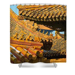China Forbidden City Roof Decoration Shower Curtain
