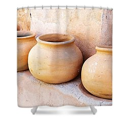 Clay Pots Shower Curtain by Kerri Mortenson