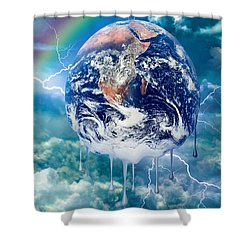 Climate Change Shower Curtain