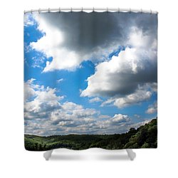 Clouds Shower Curtain by Optical Playground By MP Ray