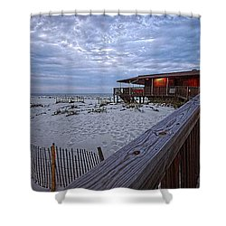 Cloudy Morning At The Sea N Suds Shower Curtain by Michael Thomas