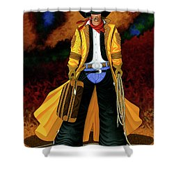 Clyde Shower Curtain by Lance Headlee