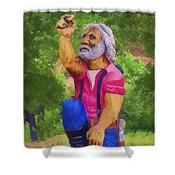 Coarsegold Miner Shower Curtain